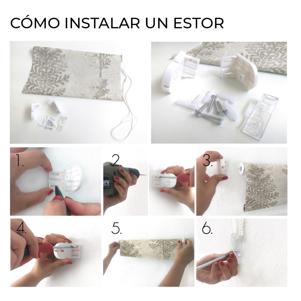 Estor enrollable opaco easyfix - crudo