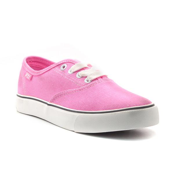 3cm Deportiva plana con cordones - rosa
