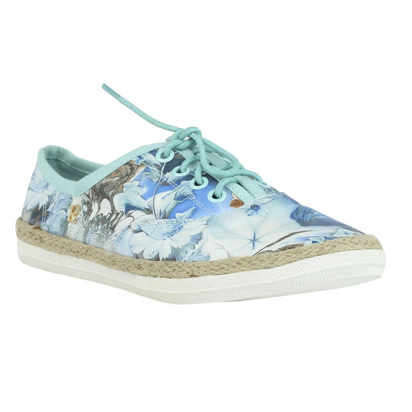Sneaker plana mujer - azul