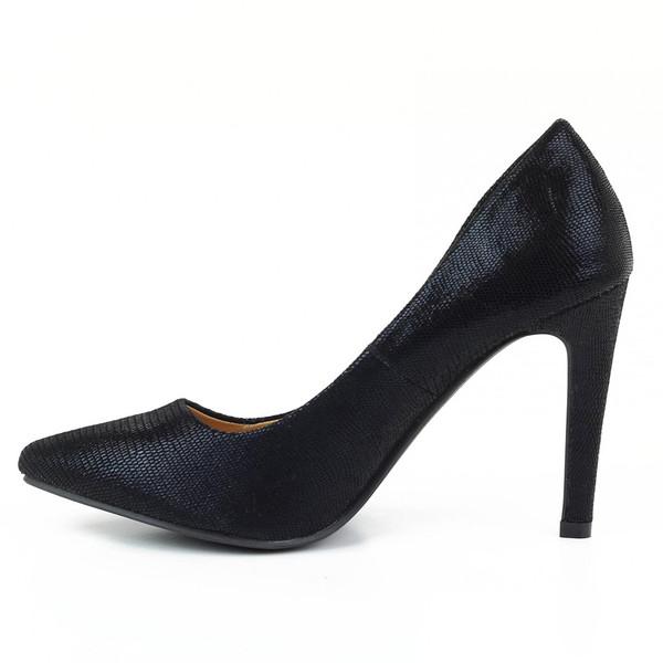 Zapato tacón liso - negro