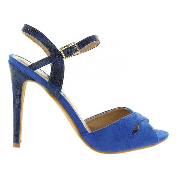 11cm Zapato tacón mujer - azul