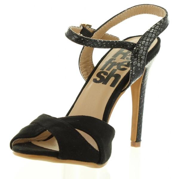 11cm Sandalia tacón mujer - negro