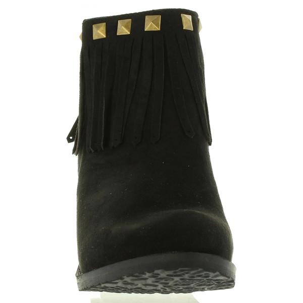 8cm Botín tacón mujer - negro
