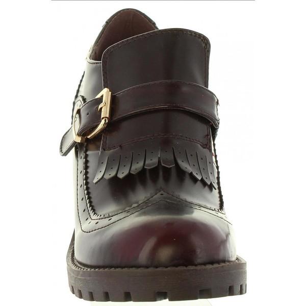 7cm Zapato tacón mujer - burdeos