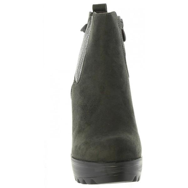 11cm Botín tacón mujer - gris