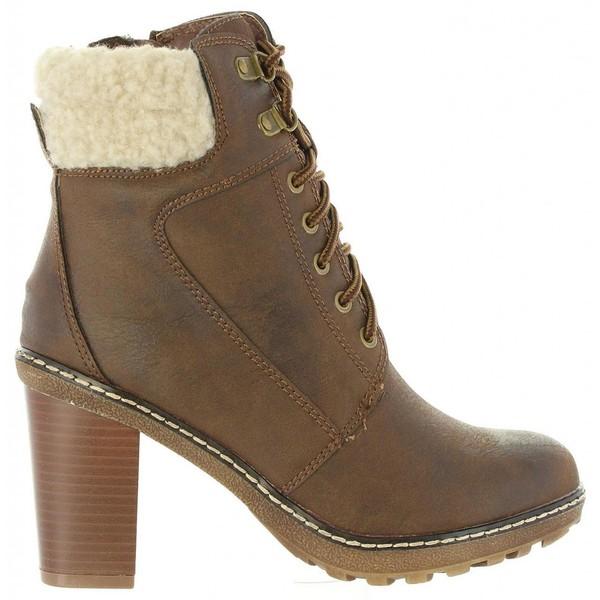 9cm Bota tacón mujer - marrón