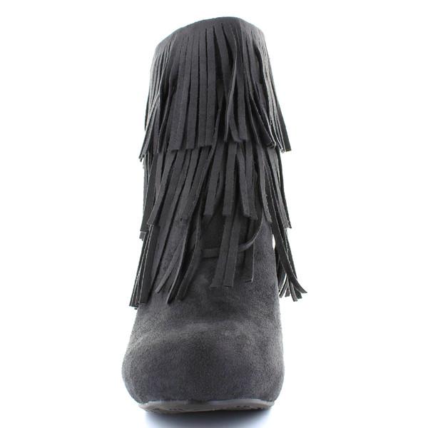 10cm Botín tacón mujer - gris