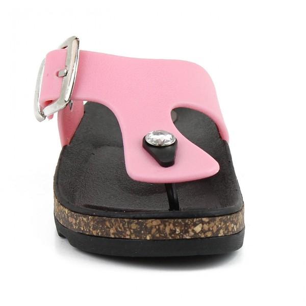 Sandalia plana infantil - rosa
