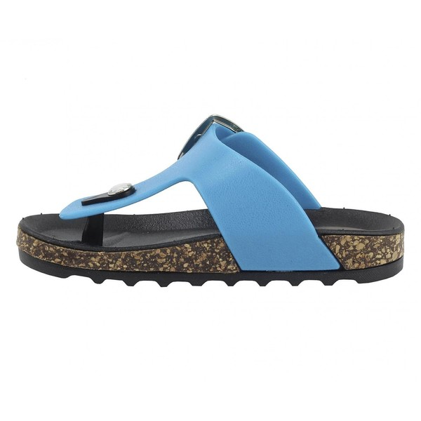Sandalias planas infantil - turquesa