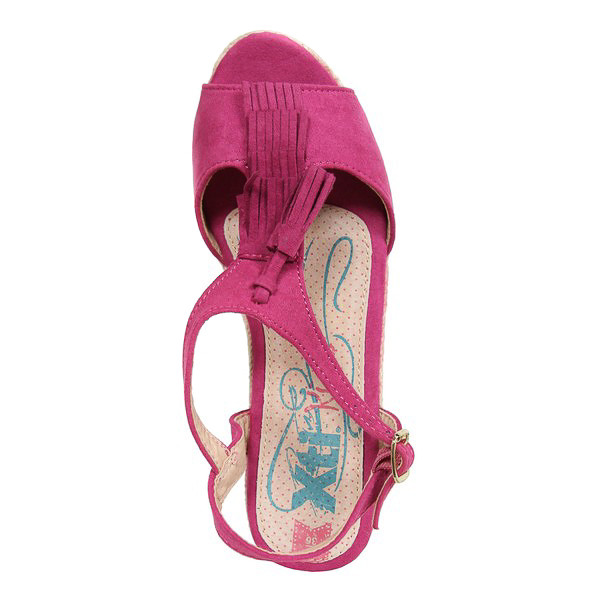 4cm Sandalia cuña mujer - rosa