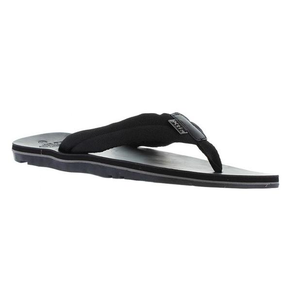Sandalia plana hombre - negro