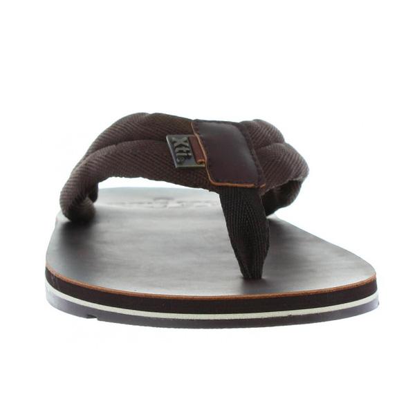 Sandalia plana hombre - marrón