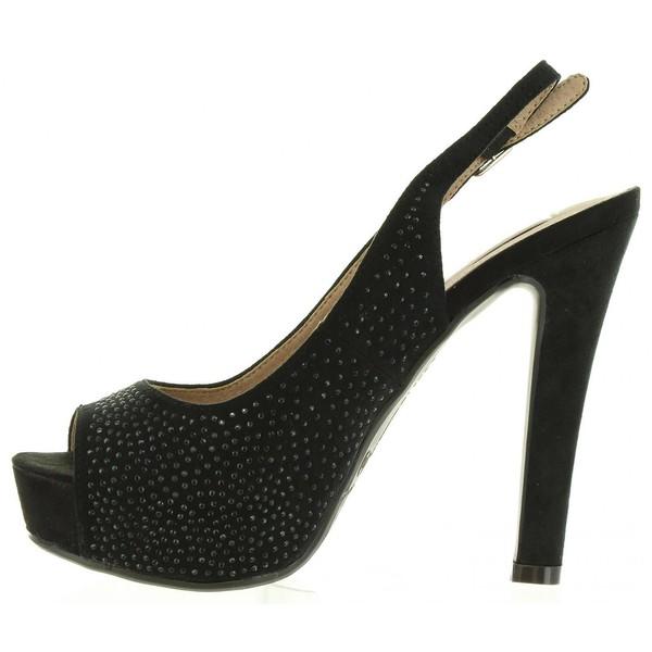 13cm Zapato tacón mujer - negro