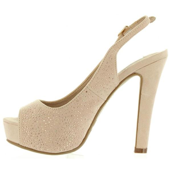 13cm Zapato tacón mujer - beige