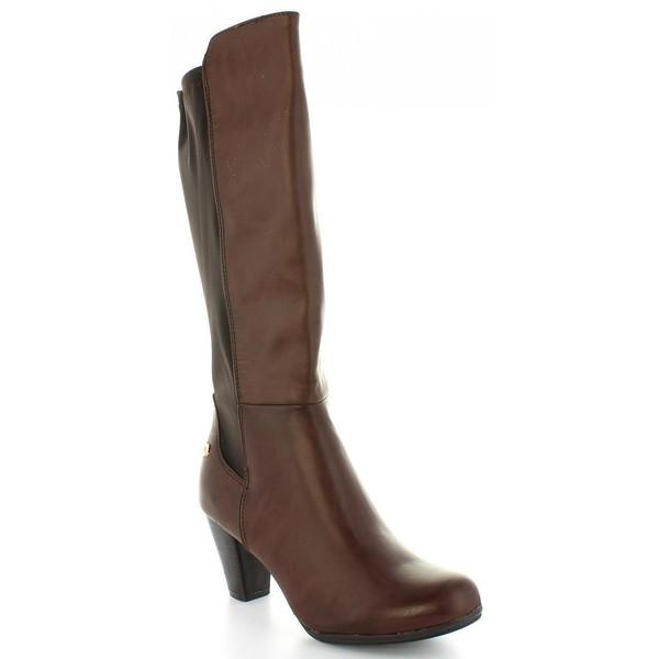6cm Bota tacón mujer - marrón