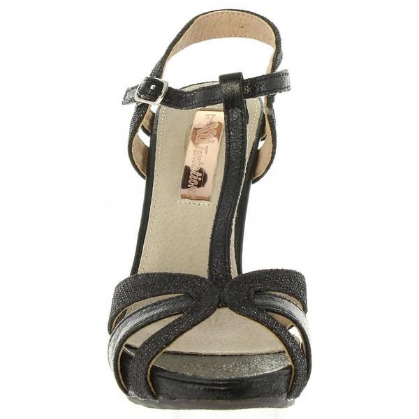 Sandalia tacón mujer - negro