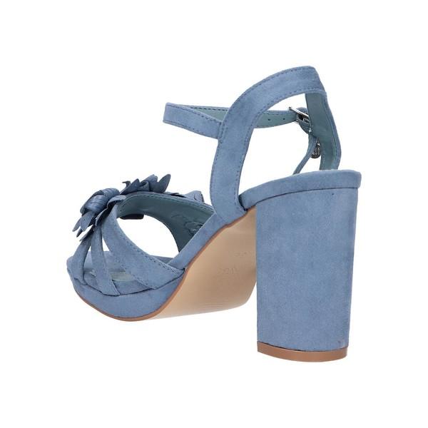 Sandalia tacón mujer - azul