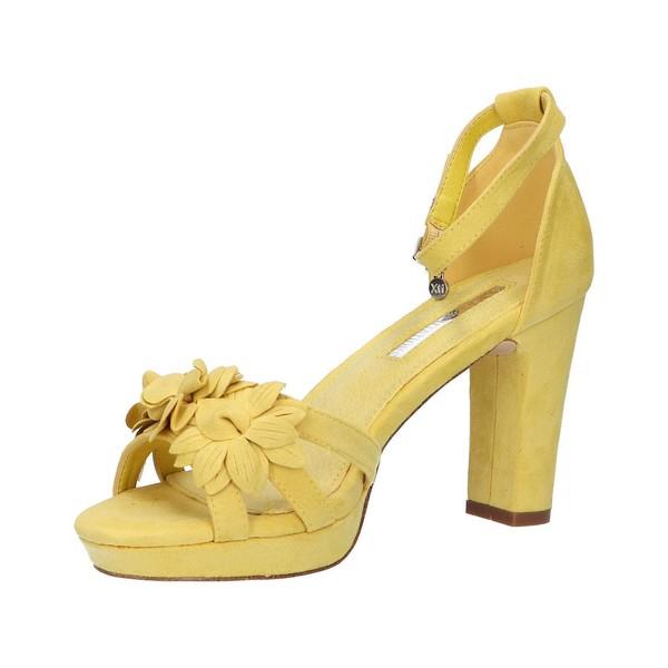 Sandalia tacón mujer - amarillo