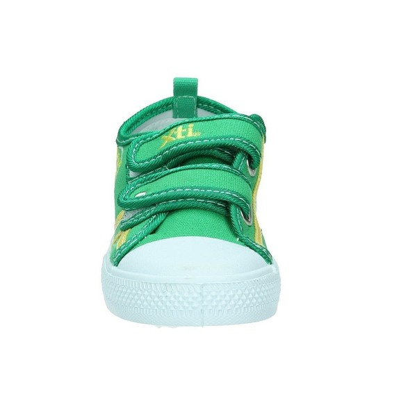 Deportiva casual velcro logo - verde