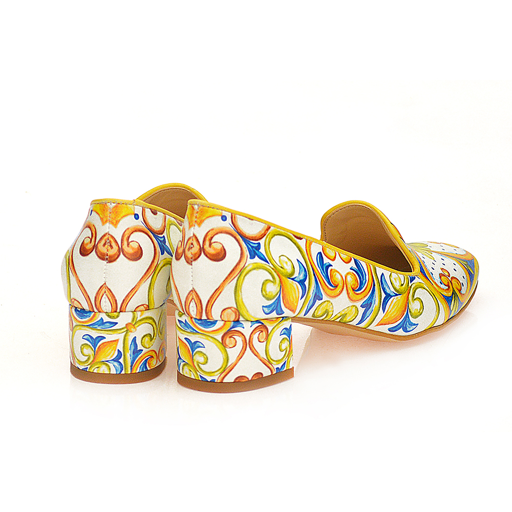 Mocasín tacón mujer - multicolor