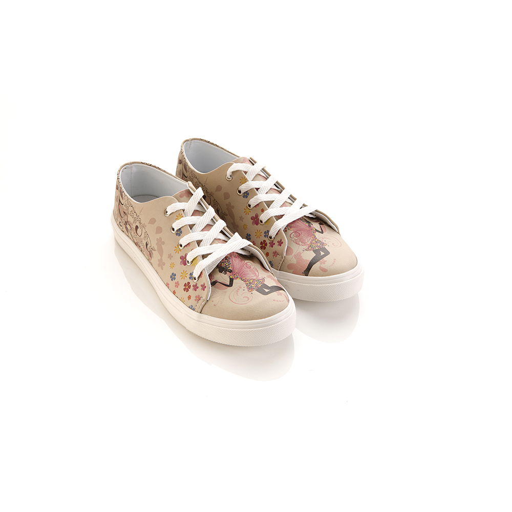 Sneaker plano mujer - marrón
