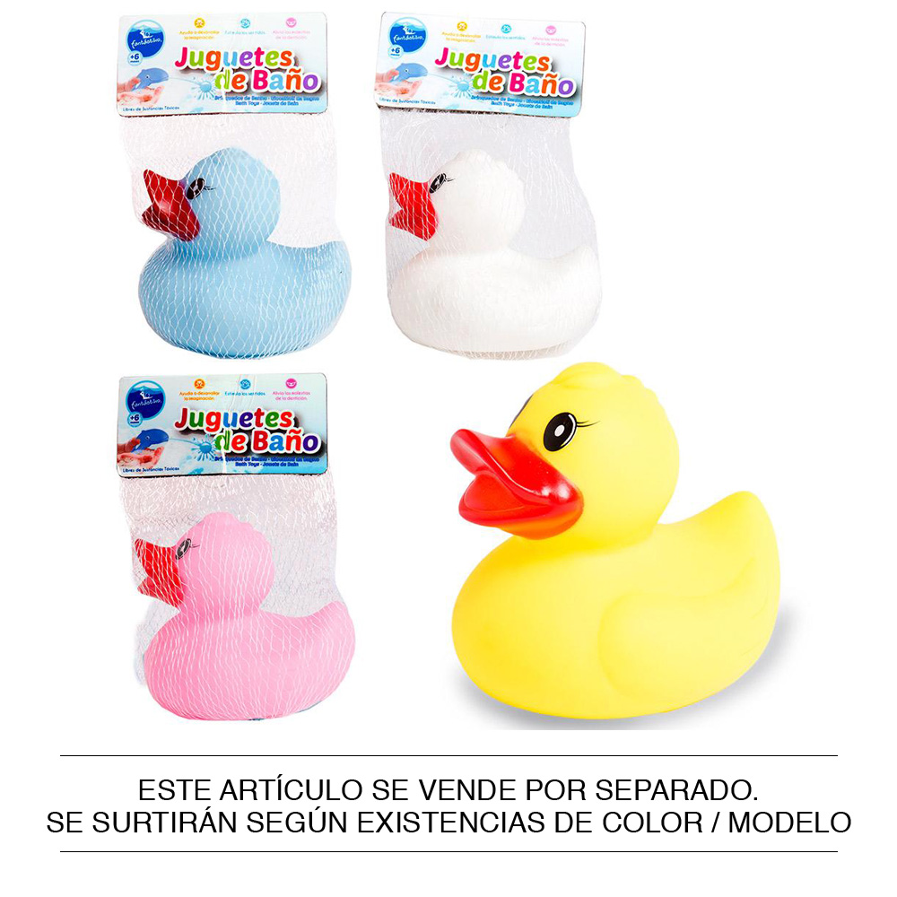 Pato para bañera 10cm. 4colores
