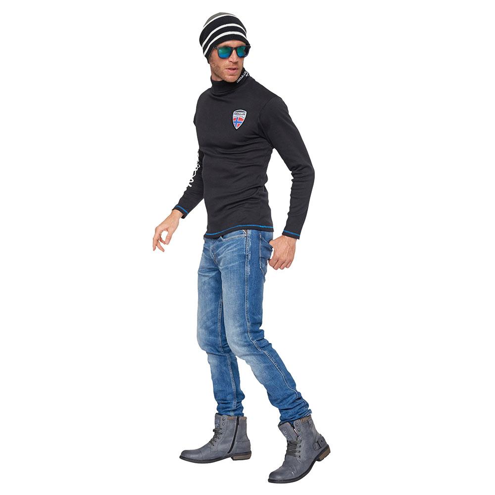 Jersey cuello alto hombre - negro