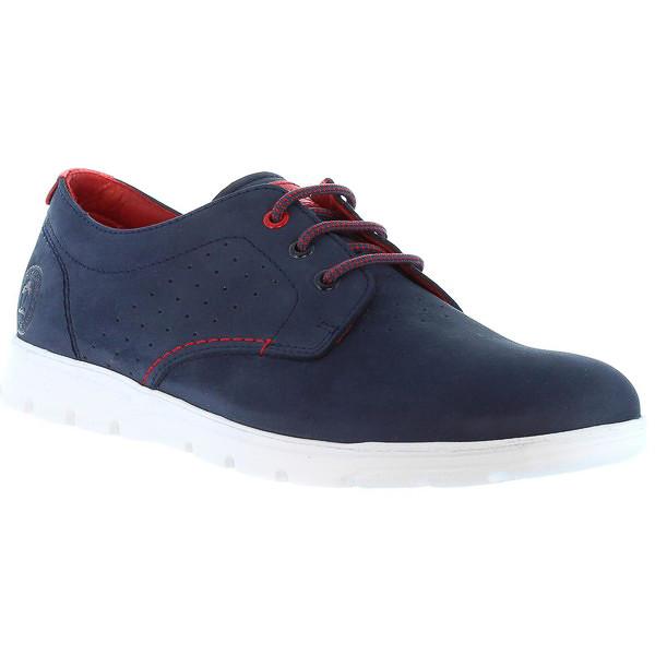 Sneaker hombre piel - azul
