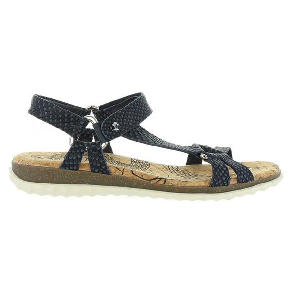 Sandalia piel mujer - marino