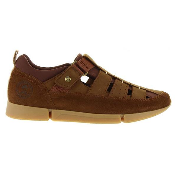 Sandalia de piel hombre piel - marrón
