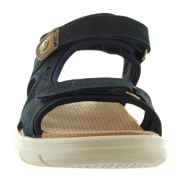Sandalia piel hombre - marino