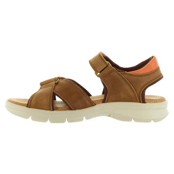 Sandalia piel hombre - marrón