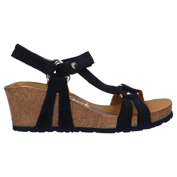 6cm Sandalia piel mujer - azul