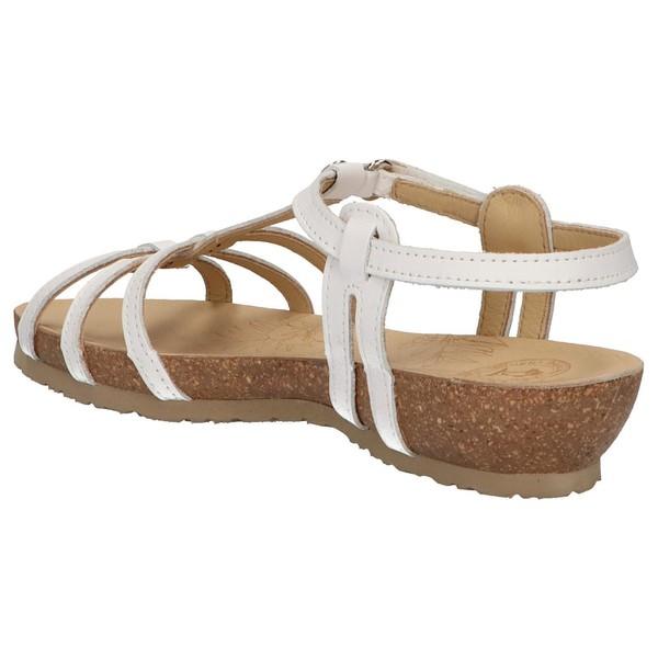 4cm Sandalia cuña piel mujer - blanco