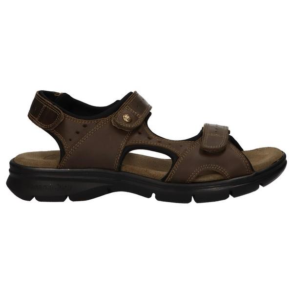 Sandalia piel hombre - caqui