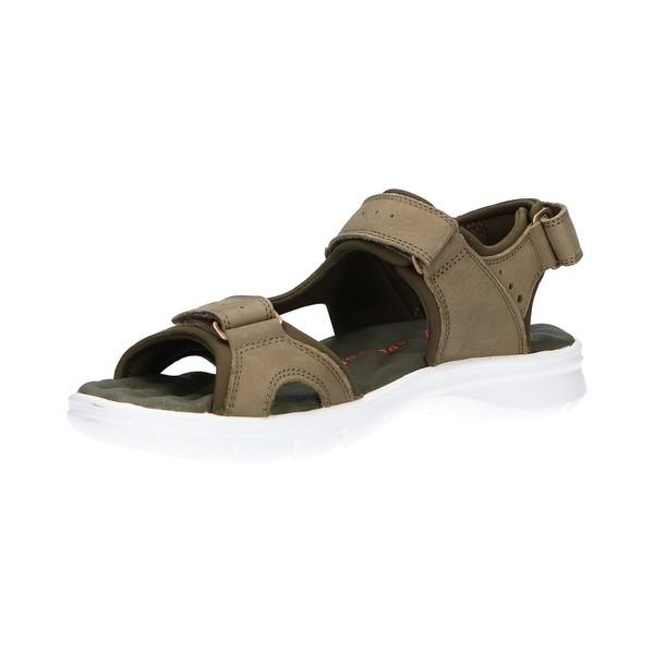 Sandalia piel hombre - kaki