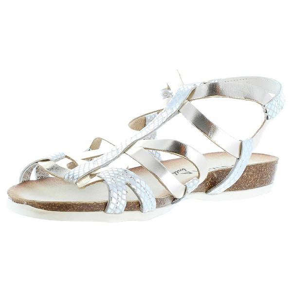 Sandalias planas mujer - plateado