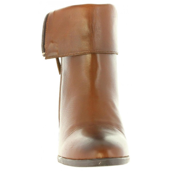 7cm Botín tacón mujer - marrón