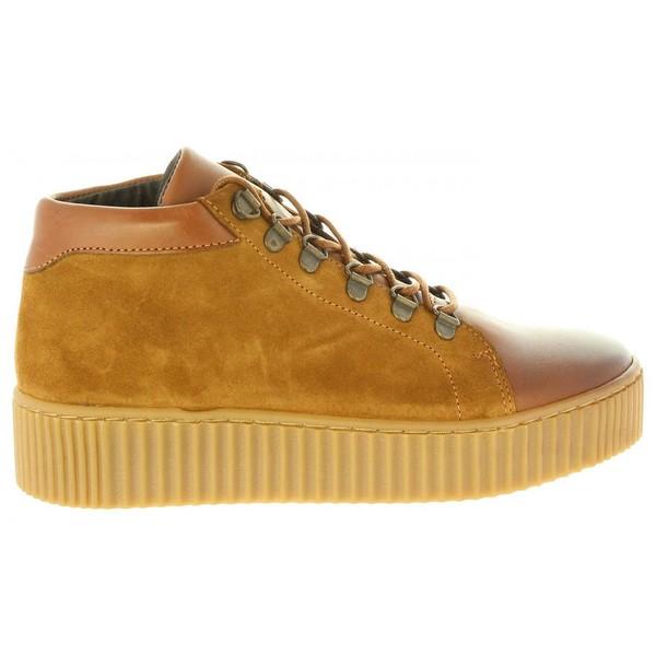 Sneaker mujer piel - cuero