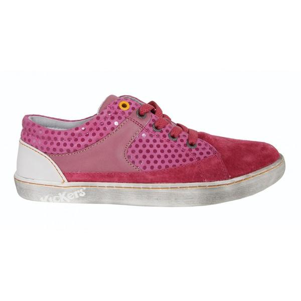 Sneaker piel mujer - rosa