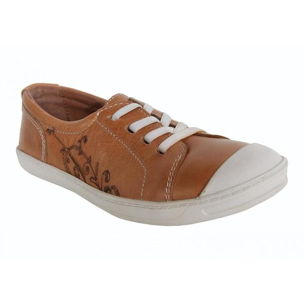 Sneaker piel junior - camel
