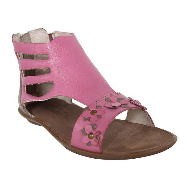Sandalia piel junior - rosa