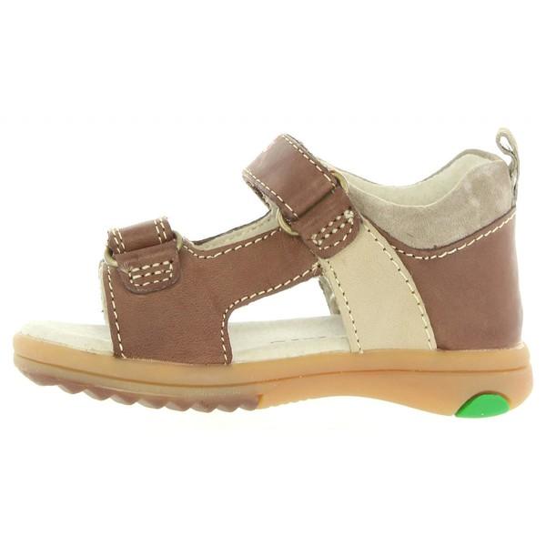 Sandalia piel infantil - marrón