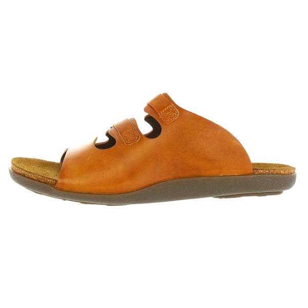 Sandalia plana piel mujer - camel