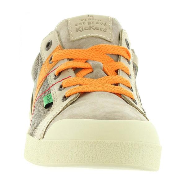 Sneaker piel infantil/junior - marrón