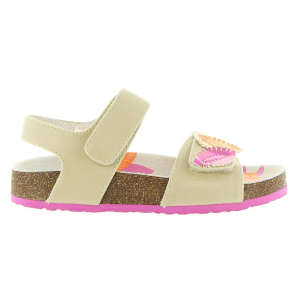 Sandalias planas infantil/junior piel - blanco