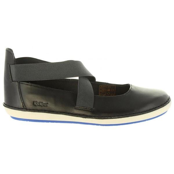 zapatos  Kickers De Piel 8 Negro - 609180-50 FOLLY 8 Piel NOIR 558853