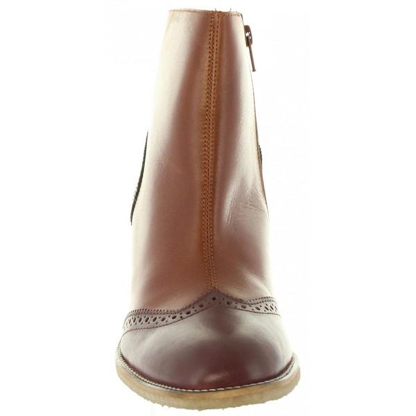 7cm Bota piel de mujer - marrón