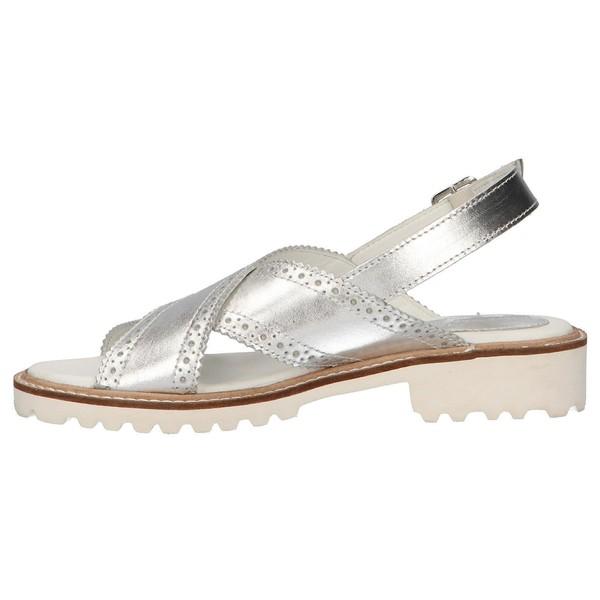 Sandalia planas mujer - plateado