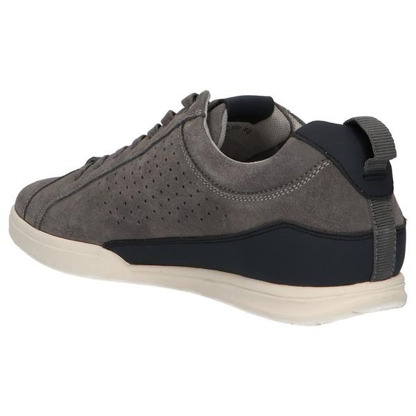 Sneaker piel hombre - gris